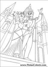 Pintar e Colorir Princesa Sapo - Desenho 061