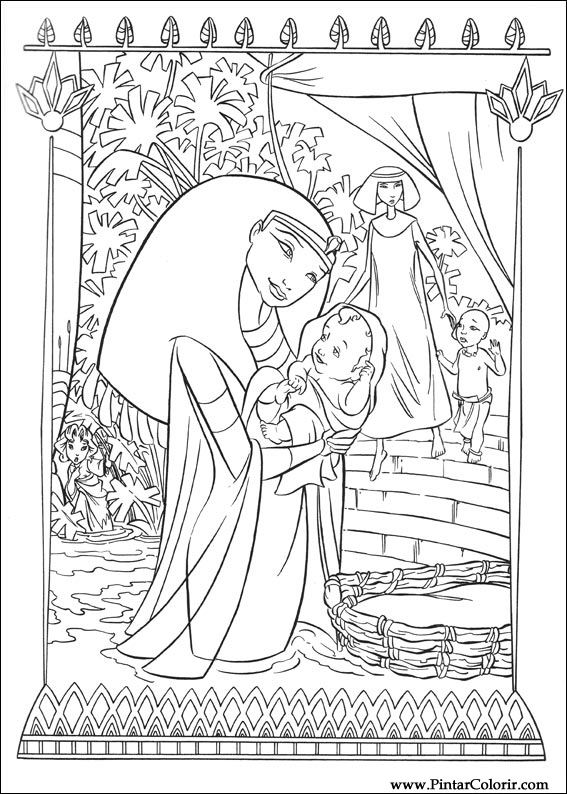 Desenhos Para Pintar E Colorir Principe Egito Imprimir Desenho 002