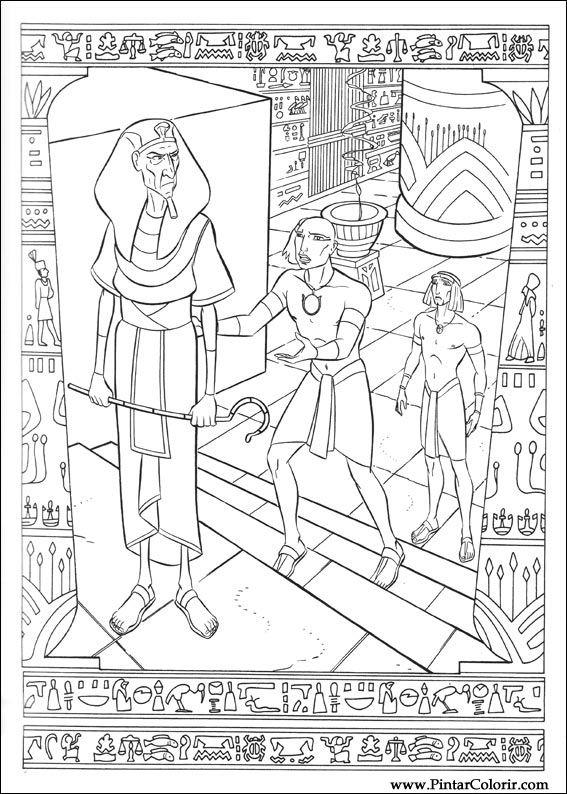 Desenhos Para Pintar E Colorir Principe Egito Imprimir Desenho 004