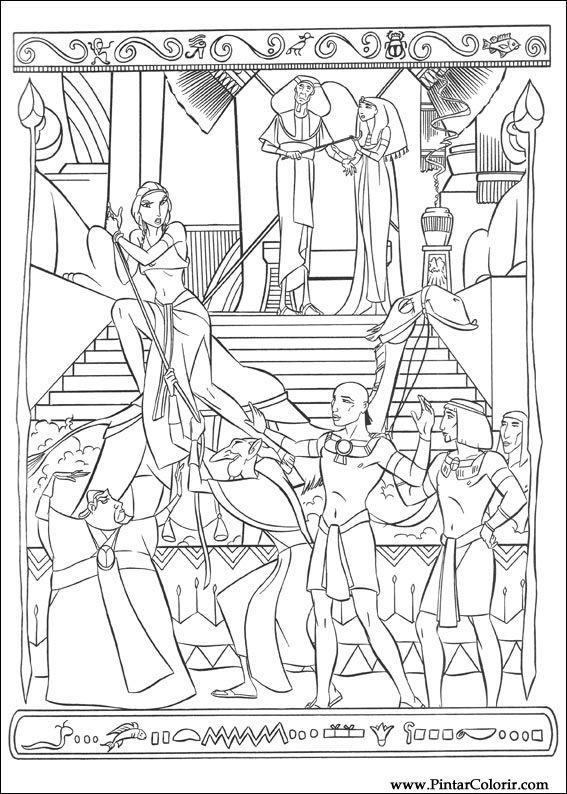 drawings to paint colour principe egypt print design 007