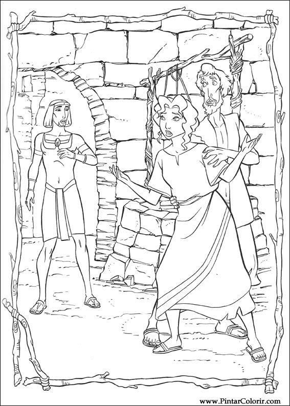drawings to paint colour principe egypt print design 008