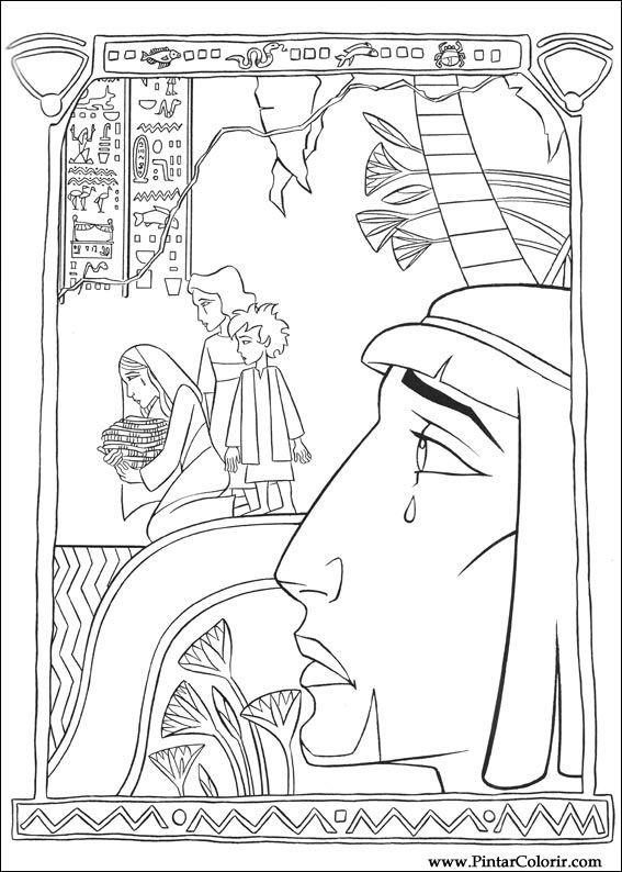 Desenhos Para Pintar E Colorir Principe Egito Imprimir Desenho 010