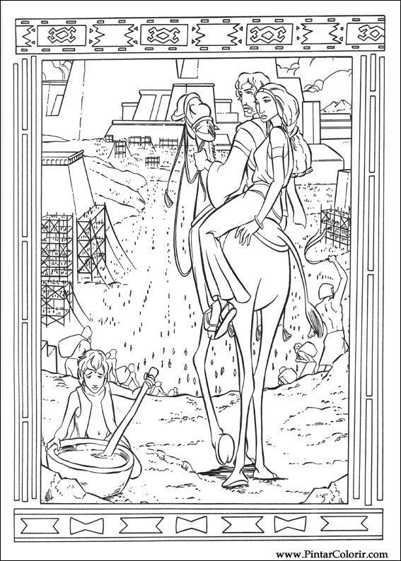 Desenhos Para Pintar E Colorir Principe Egito Imprimir Desenho 020