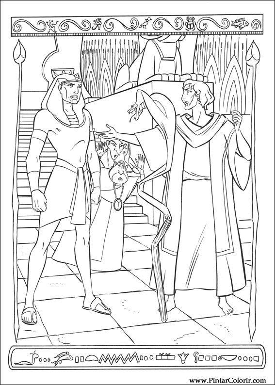 Desenhos Para Pintar E Colorir Principe Egito Imprimir Desenho 021