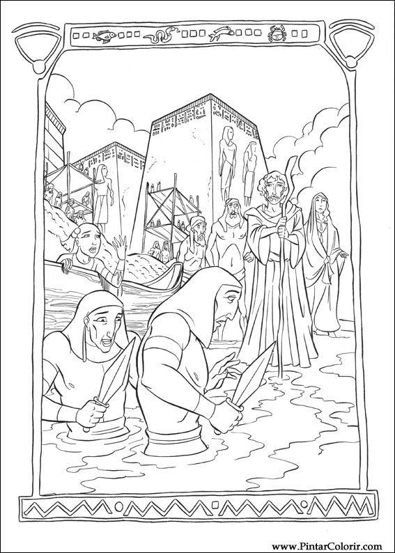 Desenhos Para Pintar E Colorir Principe Egito Imprimir Desenho 023
