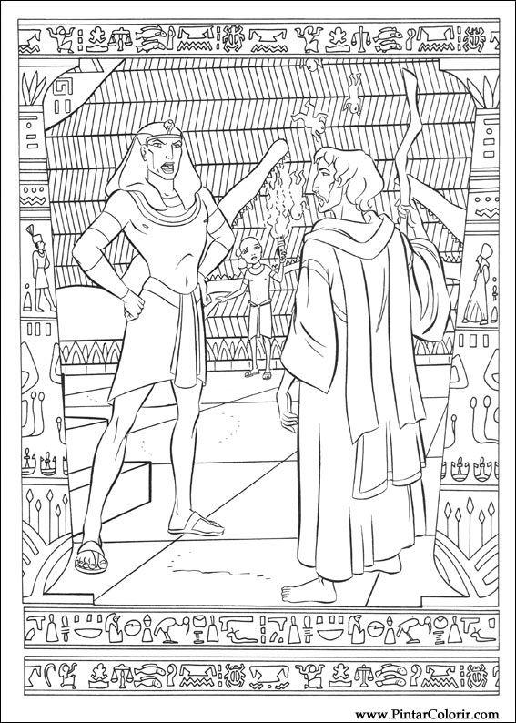 Desenhos Para Pintar E Colorir Principe Egito Imprimir Desenho 026