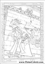 Pintar e Colorir Principe Egito - Desenho 006