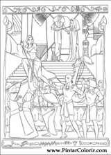 Pintar e Colorir Principe Egito - Desenho 007