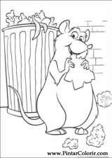 Pintar e Colorir Ratatouille - Desenho 008