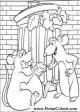 Pintar e Colorir Ratatouille - Desenho 054