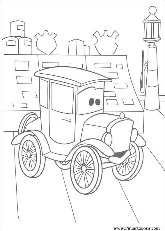 Dibujos para pintar y Color Rayo Mcqueen - Diseño de impresión 027