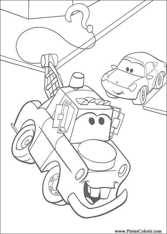 çizimler Boya Ve Renk Lightning Mcqueen Için Baskı Tasarım 042