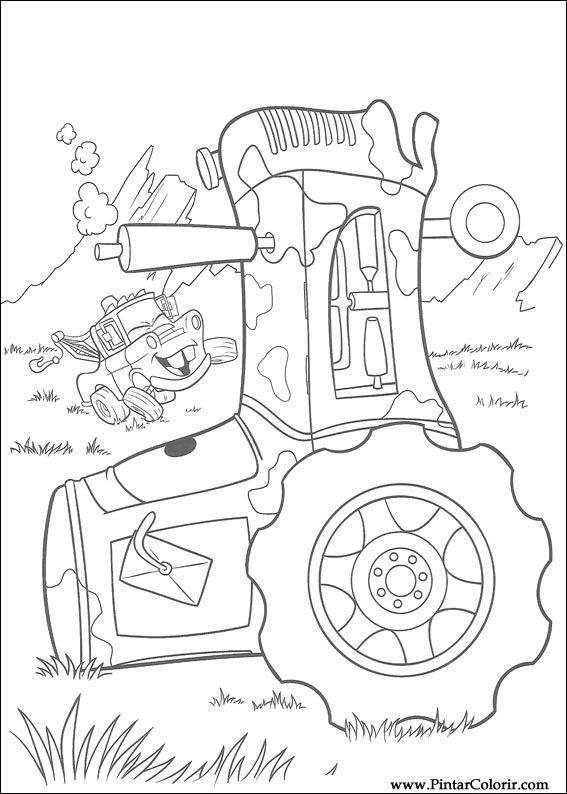 Dibujos para pintar y Color Rayo Mcqueen - Diseño de impresión 045