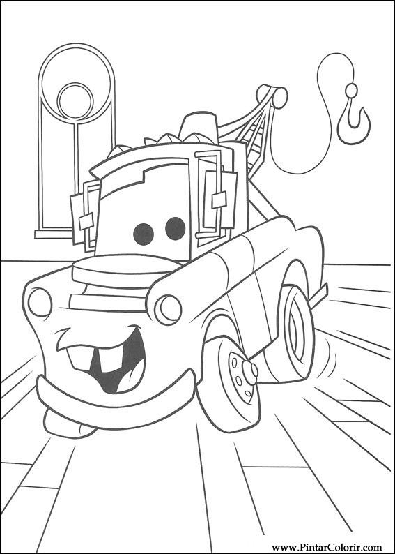 Drawings To Paint & Colour Lightning Mcqueen - Print Design 056