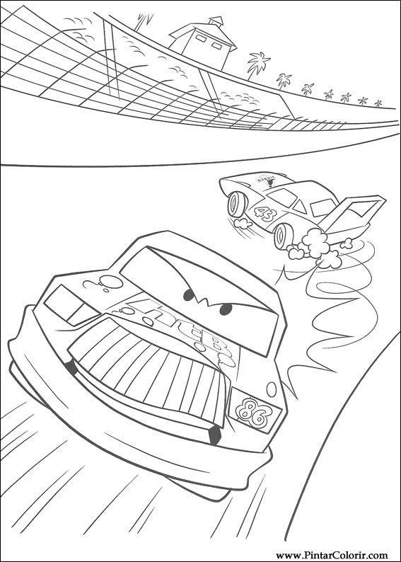 Lightning Mcqueen Kleurplaten.Tekeningen Te Schilderen Kleur Lightning Mcqueen Print Design 095