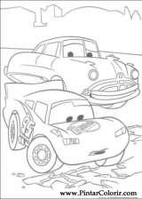Pintar e Colorir Relampago Mcqueen - Desenho 032