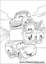 Pintar e Colorir Relampago Mcqueen - Desenho 087