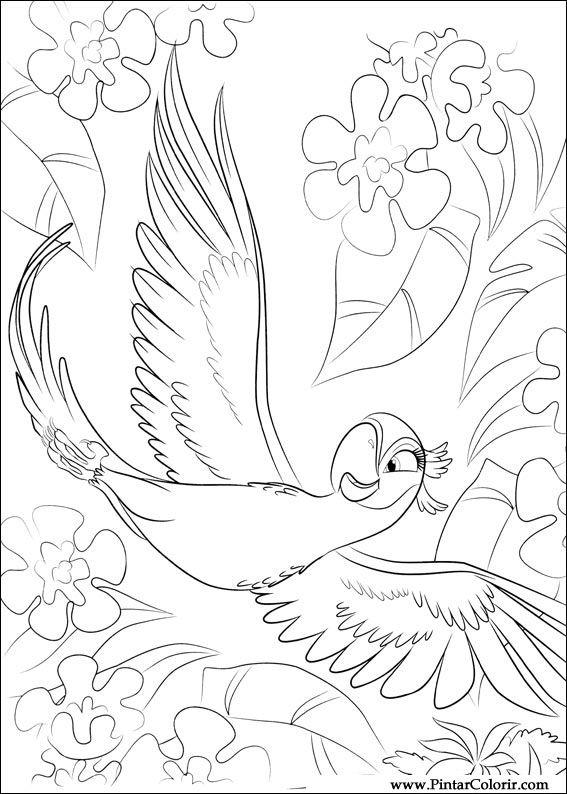 Pintar e Colorir Rio - Desenho 008