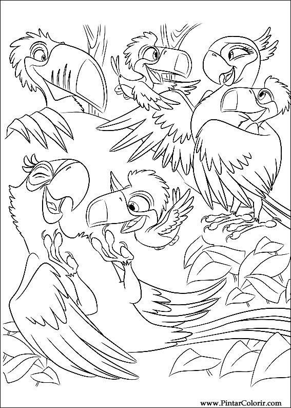 Dibujos Para Pintar River Color Diseño De Impresión 015