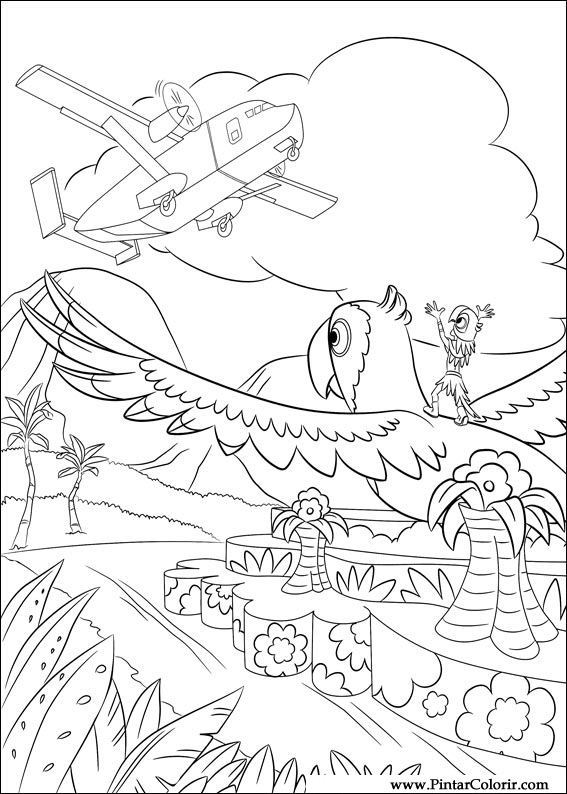 Dibujos Para Pintar River Color Diseño De Impresión 028