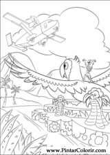 Pintar e Colorir Rio - Desenho 028