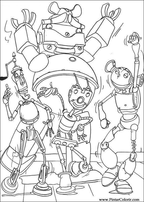 Desenhos Para Pintar E Colorir Robos Imprimir Desenho 017