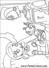 Pintar e Colorir Robos - Desenho 004