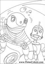 Pintar e Colorir Robos - Desenho 005