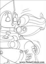 Pintar e Colorir Robos - Desenho 006