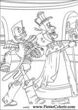 Pintar e Colorir Robos - Desenho 008