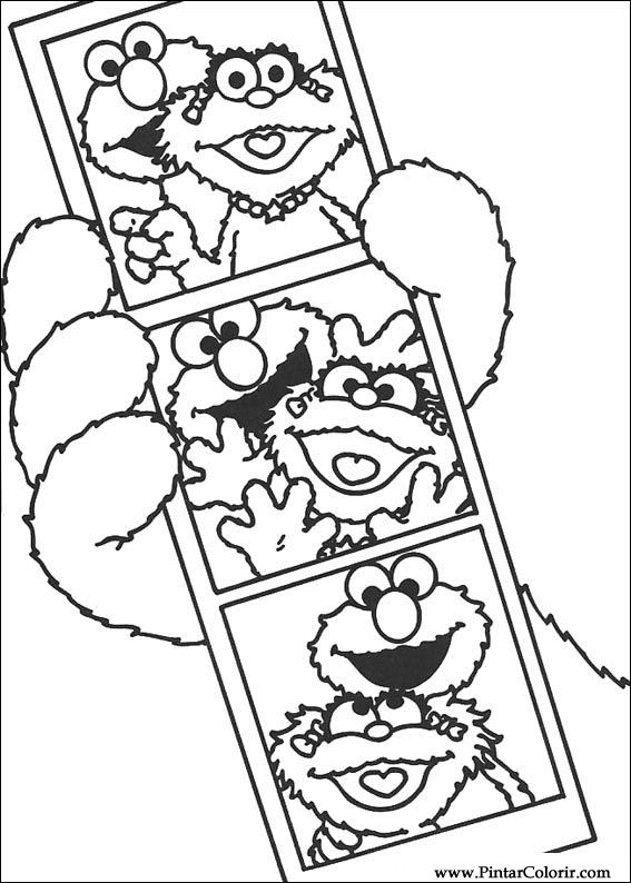 Drawings To Paint Amp Colour Sesame Street Print Design 014