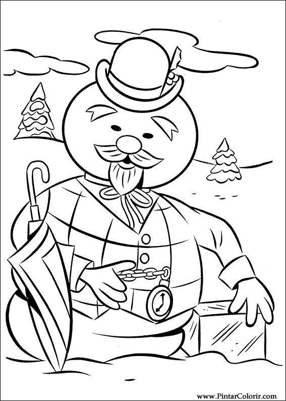 Pintar e Colorir Rudolph - Desenho 003