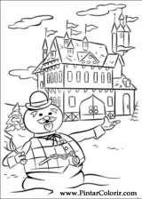 Pintar e Colorir Rudolph - Desenho 002
