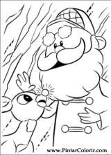 Pintar e Colorir Rudolph - Desenho 005