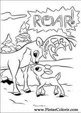 Pintar e Colorir Rudolph - Desenho 006
