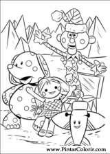 Pintar e Colorir Rudolph - Desenho 036