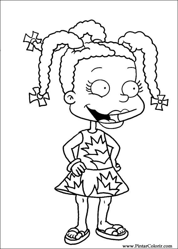 christmas rugrat coloring pages - photo#8