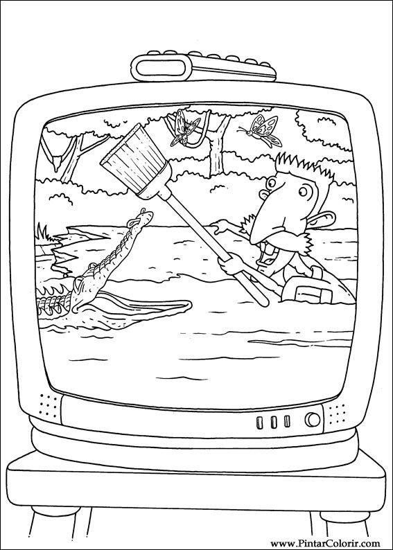 Pintar e Colorir Rugrats - Desenho 049