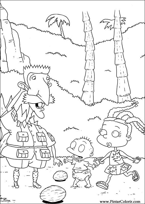 Pintar e Colorir Rugrats - Desenho 075