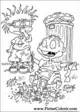 Pintar e Colorir Rugrats - Desenho 009