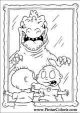 Pintar e Colorir Rugrats - Desenho 012