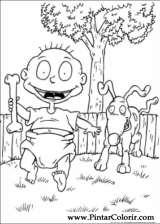 Pintar e Colorir Rugrats - Desenho 014