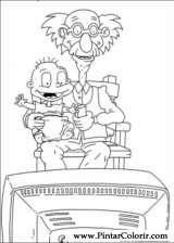 Pintar e Colorir Rugrats - Desenho 048
