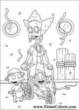 Pintar e Colorir Rugrats - Desenho 053