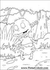 Pintar e Colorir Rugrats - Desenho 070