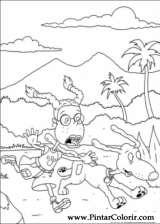 Pintar e Colorir Rugrats - Desenho 079
