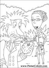Pintar e Colorir Rugrats - Desenho 087