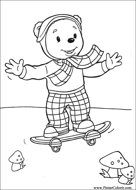 Cizimler Boya Ve Renk Rupert Bear Icin Baski Tasarim 006