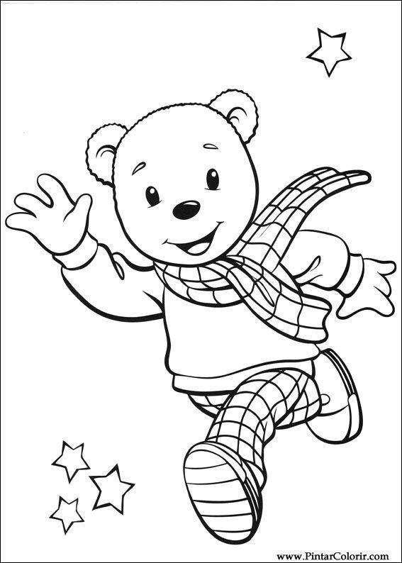 Dibujos Para Pintar Y Color Rupert Bear Diseño De