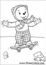 Pintar e Colorir Rupert Urso - Desenho 006
